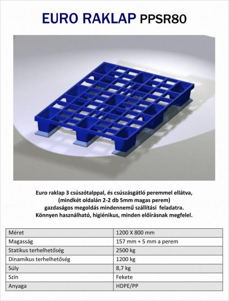 EUR műanyag raklap PPSR80